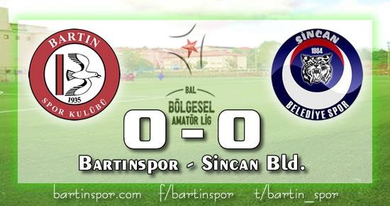 Bartınspor'da yaprak dökümü devam ediyor: 0-0
