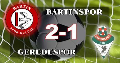 Bartınspor'dan üç puan, iki gol, bir umut