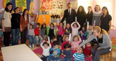 Başkan Akın Güneş Anaokulu'nda