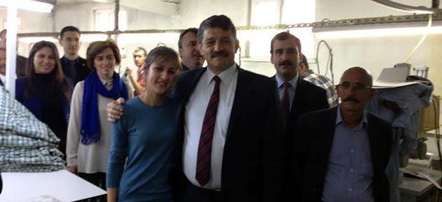 Başkan'dan Tekstil Fabrikasına Ziyaret