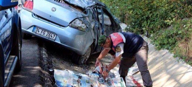Bayram yolunda kaza: 1 Ölü, 3 Yaralı