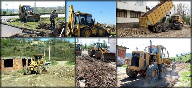 Belediye'den alt yapı çalışması
