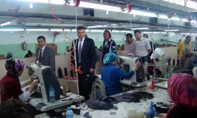Bilgin'den Fabrika ve Esnaf ziyareti