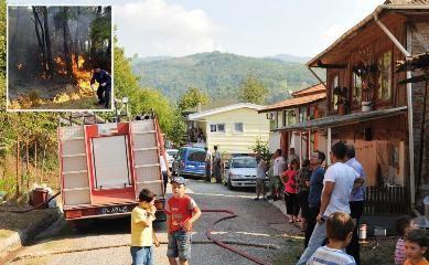 Çakraz'da orman yangını