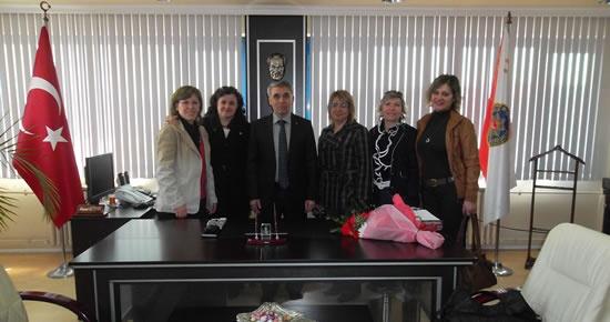 CHP'li kadınlardan Müdür Altınok'a ziyaret