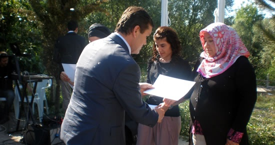 Çiftçilere sertifikaları verildi