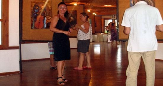 Dilek Özmen 22.Solo Sergisini Gökova Akyaka'da açtı