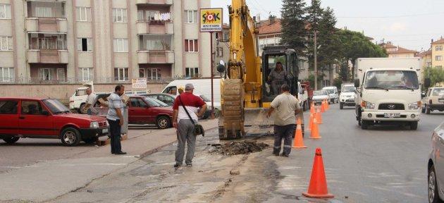 Doğalgaz çalışmalarında Belediye Yakın Takipte