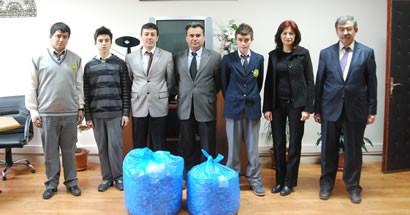 Endüstri Meslek Lisesi'nden 10.000 Plastik Kapak