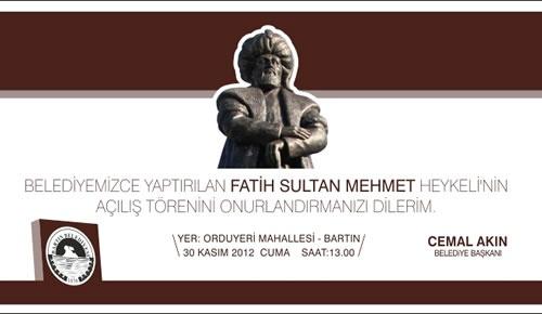 Fatih Sultan Mehmet heykeli yarın törenle açılacak