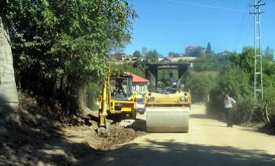 Fen Lisesi yolu asfaltlanıyor