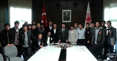 Hukuk Fakültesi öğrencilerinden Tunç'a ziyaret