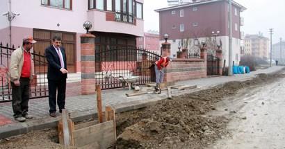 İMKB yolu kaldırımları tamamlandı