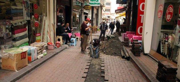 İplikçiler Sokak'ta Alt Yapı Çalışmaları