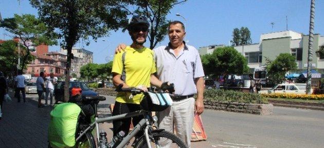 İspanyol Turistten Bisikletle Türkiye Turu