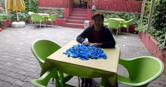 Kafe çalışanlarından destek