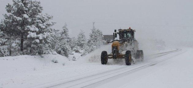 Kastamonu'da Kar Yağışı