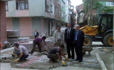 Kozcağız Belediyesi Yol Yapım çalışmaları