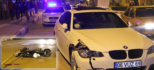 Lüks Araç Moto Kuryeye Çarptı: 1 Ölü