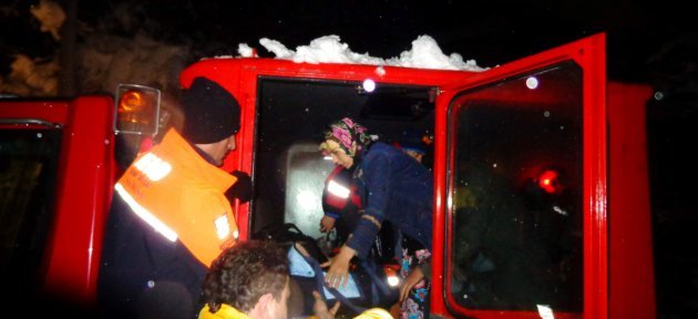 Mahsur Kalan Hamile Kadını, Afad Ekipleri Kurtardı