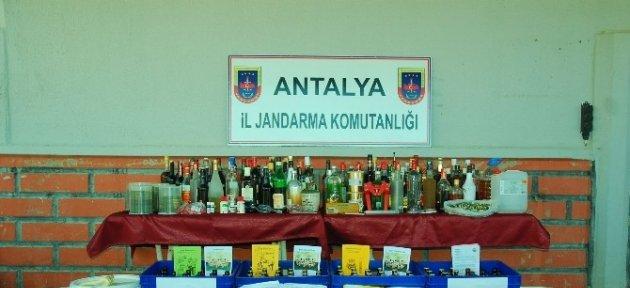 Manavgat'ta İçki İmalathanesi Gibi Eve Baskın