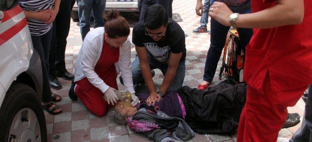 Merdivenlerden Düşen Kadın Öldü
