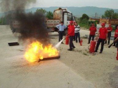 Yangın söndürme eğitimi ertelendi