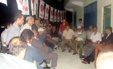 MHP adayı Bilgin, mahalle ve köy toplantılarına devam ediyor