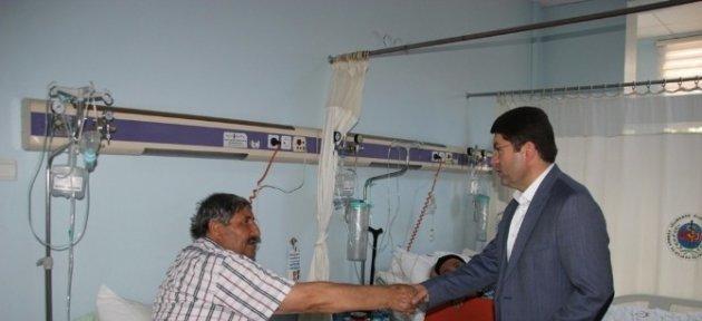 Milletvekili Tunç'tan Hastane Ziyareti