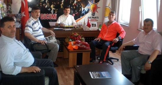 Milli Atlet Turgay Oğuz'dan Arslan'a ziyaret
