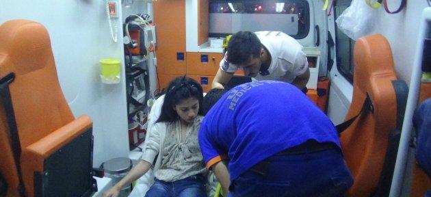 Motosikletin Altında Kalan 13 Yaşındaki Kız Yaralandı