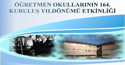 Öğretmen Okulları 164.yılını kutluyor