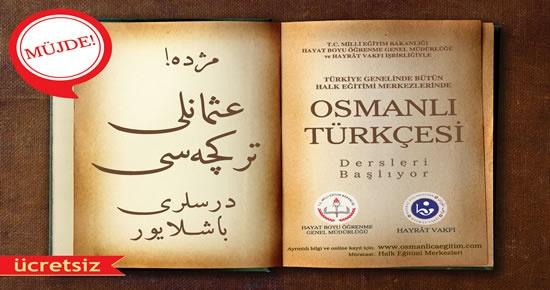 Osmanlıca Türkçesi ve Kur'an Okuma Kursları başlıyor
