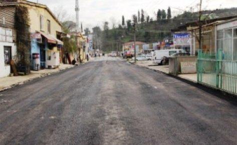 Oto sanayi sitesinin yolları asfaltlanıyor