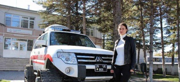 112 Ambulansları Zorlu Kış Şartına Hazır