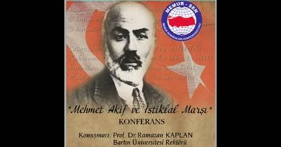 Rektör Kaplan'dan İstiklal Marşı konferansı