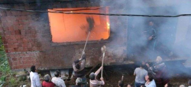 Rize'de Yangın