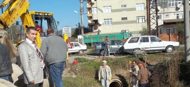 Saltukova'da Alt Yapı Çalışmaları Devam Ediyor
