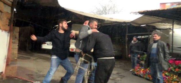 Sarhoşlar Tekme Tokat Kavga Etti