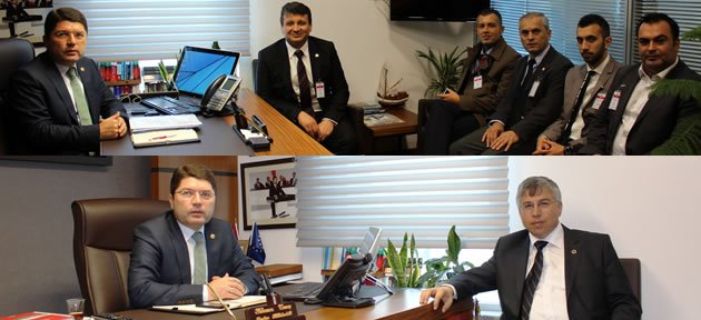 Sayın ve UETD yöneticilerinden Tunç'a Ziyaret