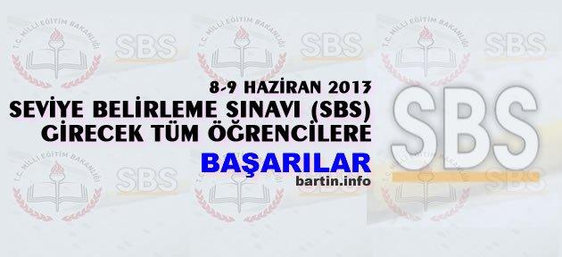 SBS'ye girecek öğrencilere başarılar...