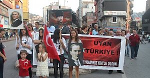 Zonguldak ve Bolu'da Teröre Lanet Yürüyüşü