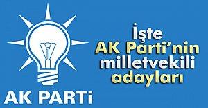 İşte AK Parti#039;nin Aday Listesi