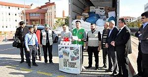 Bartın'da Suriye'ye 25 Ton Un
