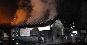 Dinlenme tesisinde yangın paniği