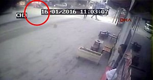 Cinayet anı güvenlik kamerasında