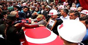 Şehit Uzman Çavuşu Bartın'da 10 bin kişi uğurladı