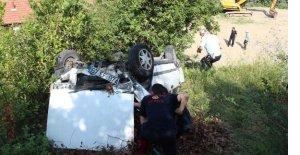 Otomobil Yamaçtan Yuvarlandı: 1 yaralı