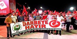 İstanbul'daki Bartınlılar da Demokrasi Nöbetinde