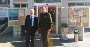 Komutandan Başkan'a Ziyaret